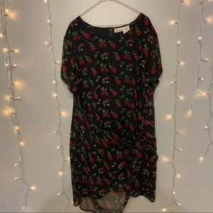 Womens Black and red light weight dress 3X